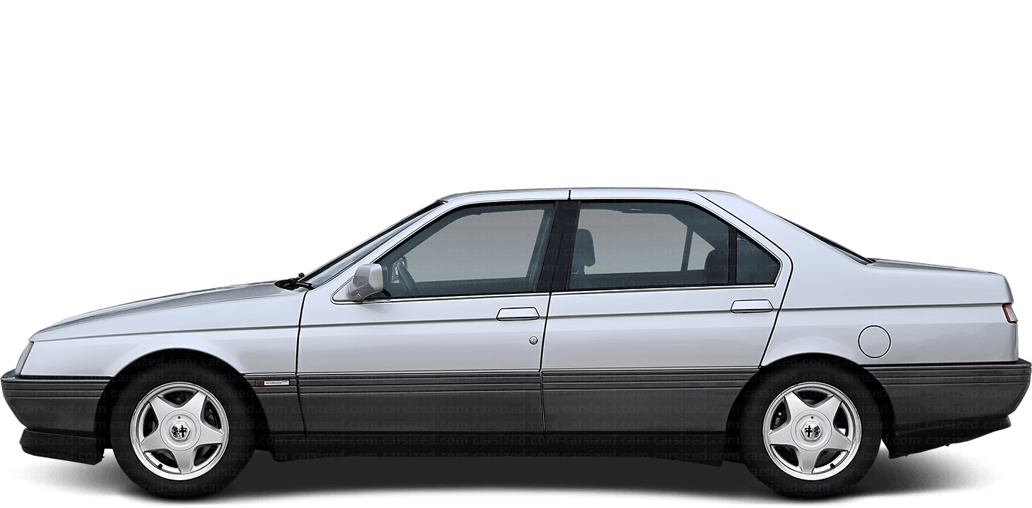 Alfa Romeo 164 Sedan 1987-1998 Side View