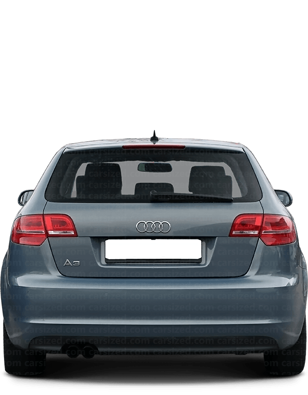 Audi A3 Hatchback 2003-2013 Rear View