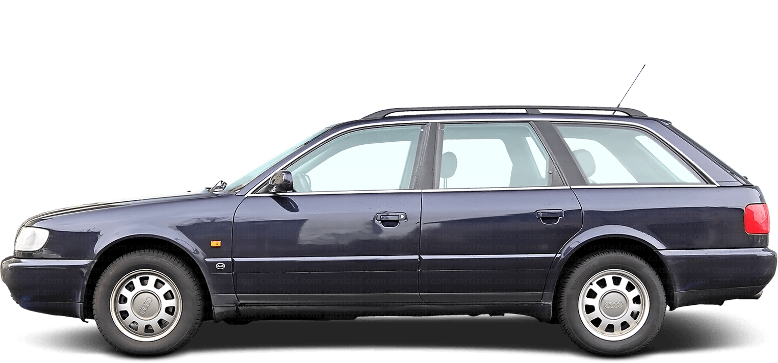 Audi A6 Estate 1994-1997 Side View