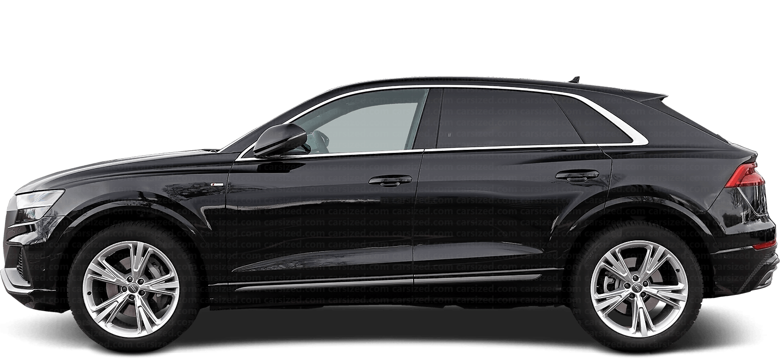 Audi Q8 SUV 2018-present Side View