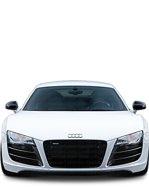 Audi R8 coupé 2006-2015 Front View