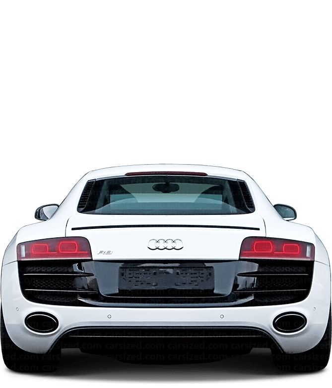 Audi R8 coupé 2006-2015 Rear View