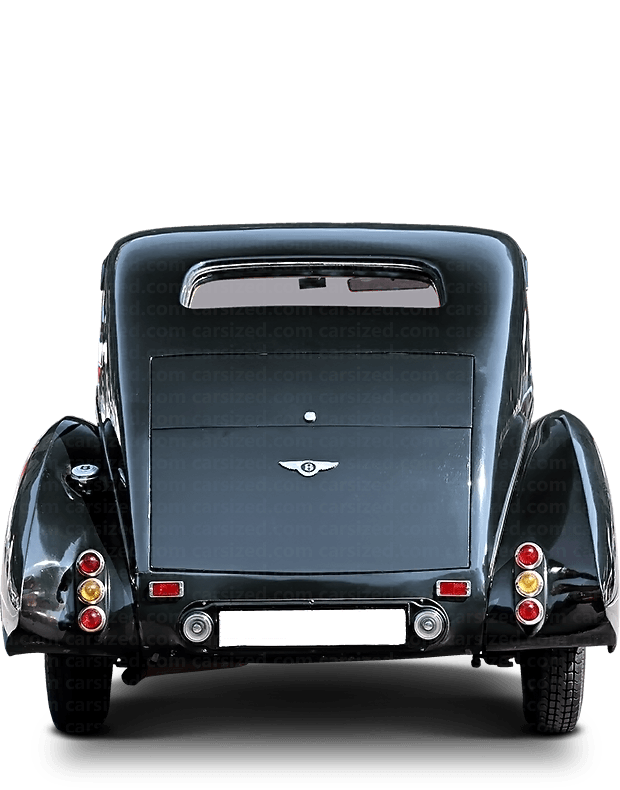 Bentley 3.5 Litre coupé 1933-1936 Rear View