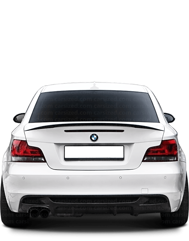 BMW 1 coupé 2007-2013 Rear View