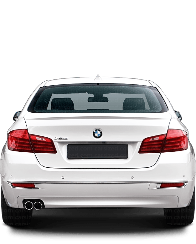 BMW 5 Sedan 2010-2017 Rear View