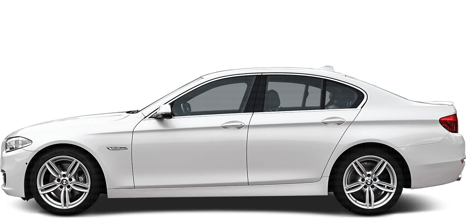 BMW 5 Sedan 2010-2017 Side View