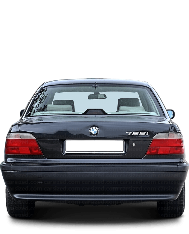 BMW 7 Sedan 1994-2001 Rear View