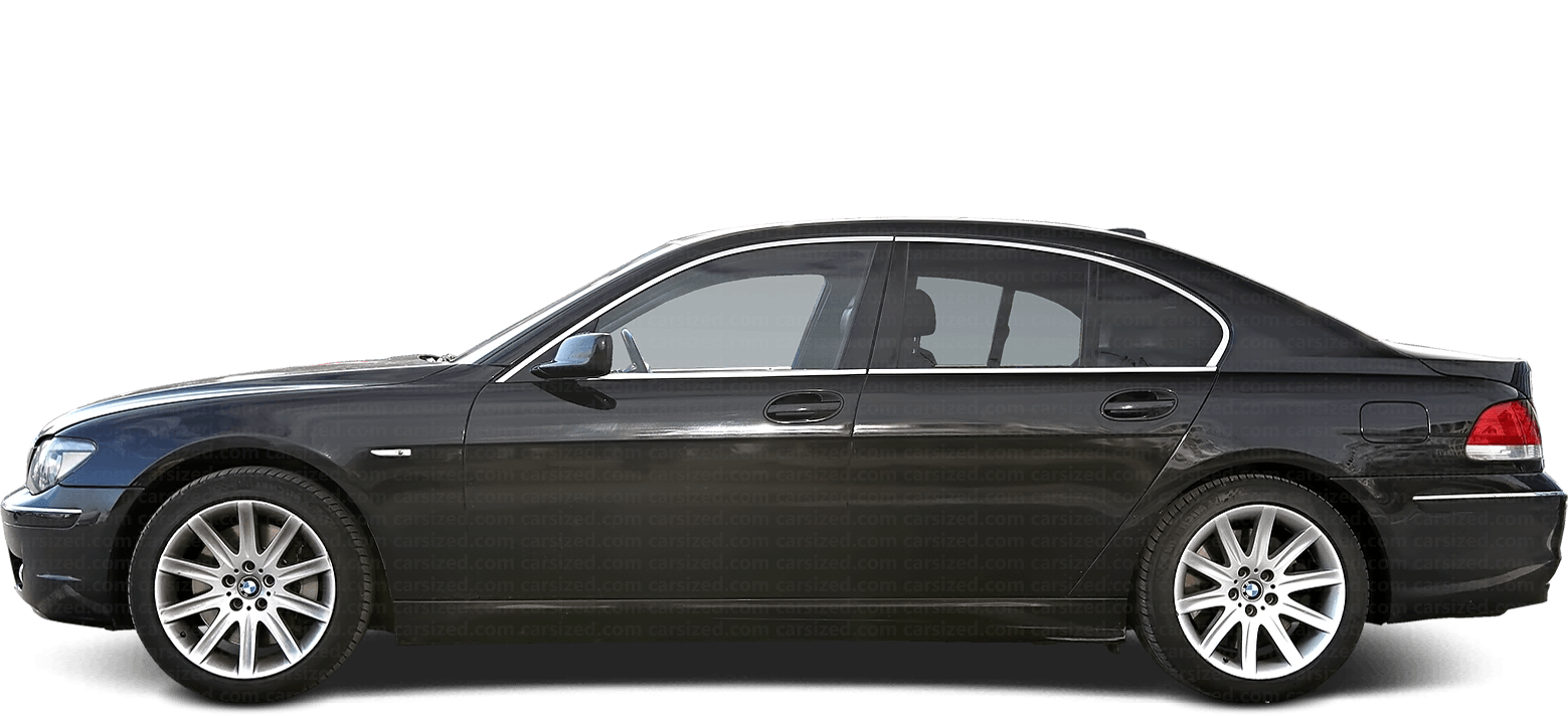 BMW 7 Sedan 2001-2008 Side View