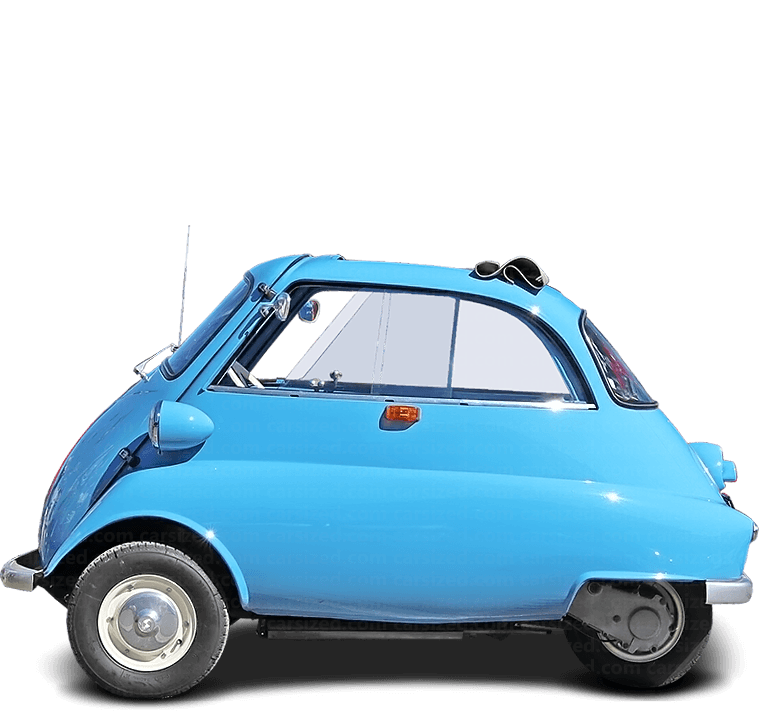 BMW Isetta Cabriolet 1955-1962 Side View