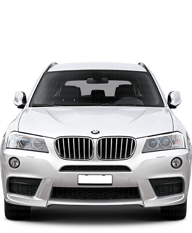 BMW X3 SUV 2010-2017 Front View