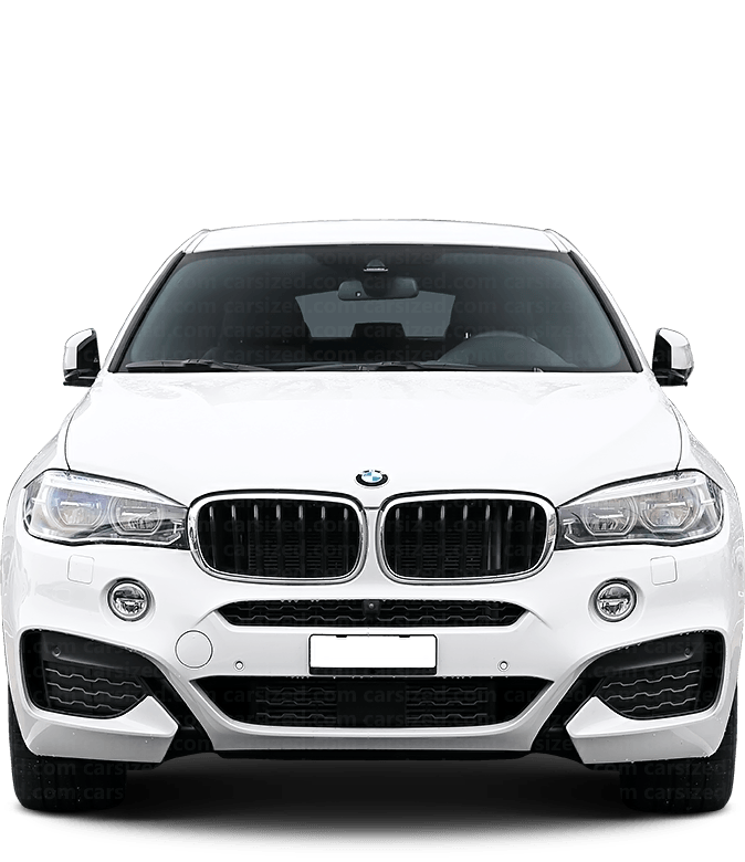 BMW X6 SUV 2014-2019 Front View