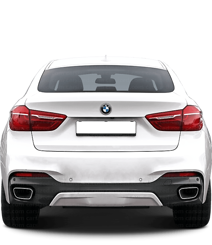 BMW X6 SUV 2014-2019 Rear View