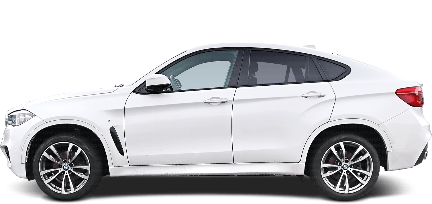 BMW X6 SUV 2014-2019 Side View