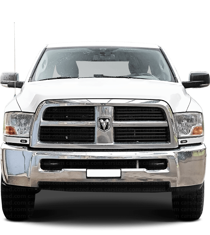 Dodge Ram Pick-up 2010-2019 Front View