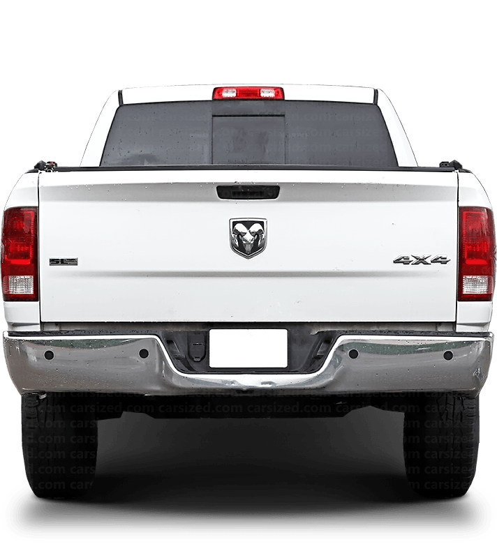 Dodge Ram Pick-up 2010-2019 Rear View
