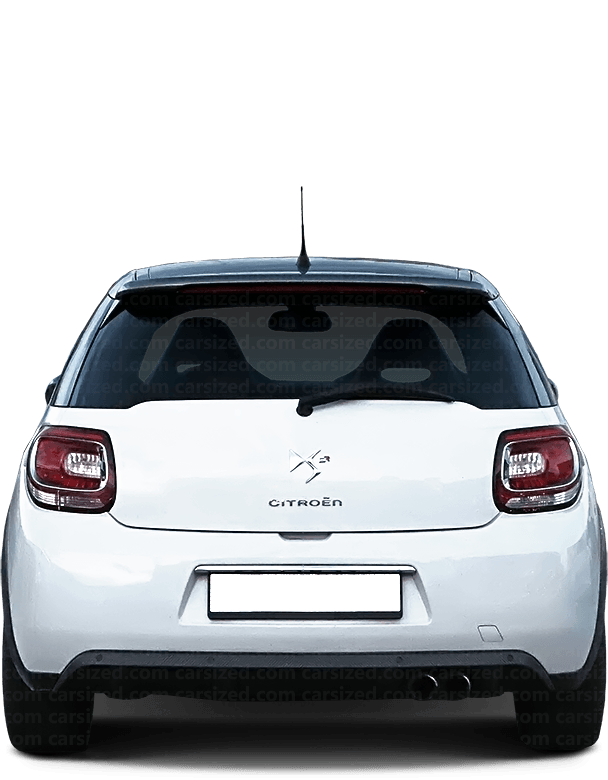 DS 3 Hatchback 2009-2016 Rear View