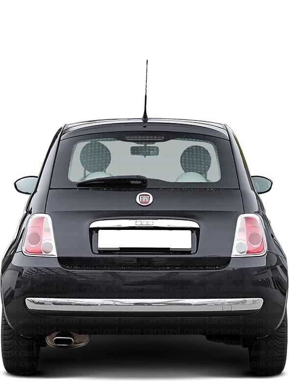 Fiat 500 Hatchback 2007-present Rear View