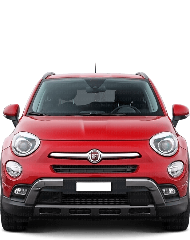 Fiat 500X SUV 2014-present Front View