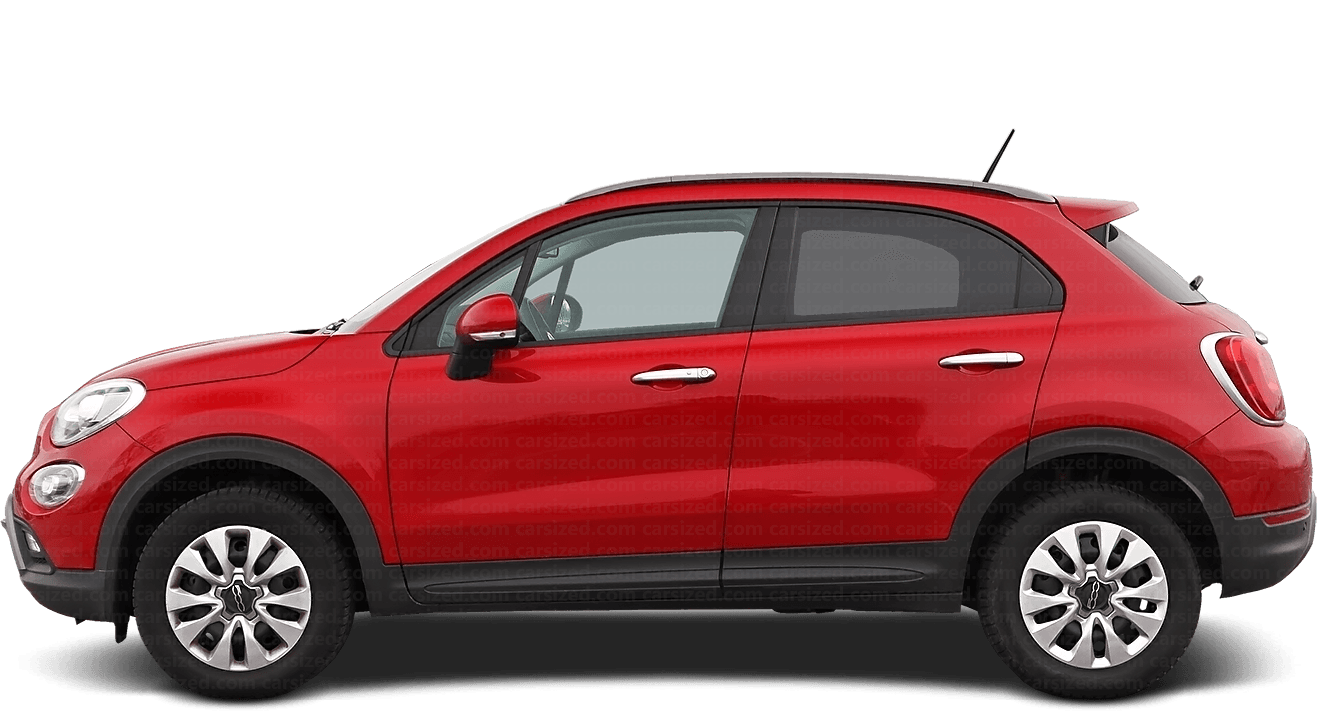 Fiat 500X SUV 2014-present Side View