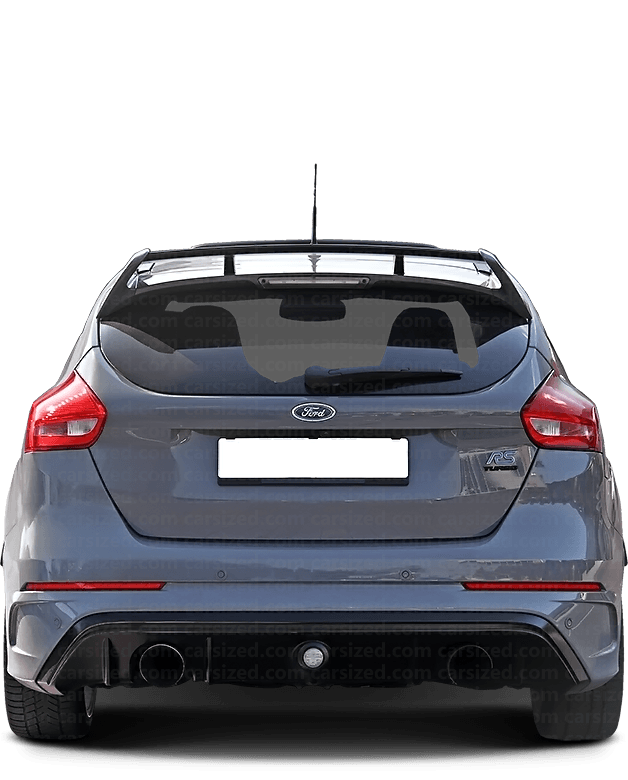 Ford Focus Hatchback 2013-2018 Rear View