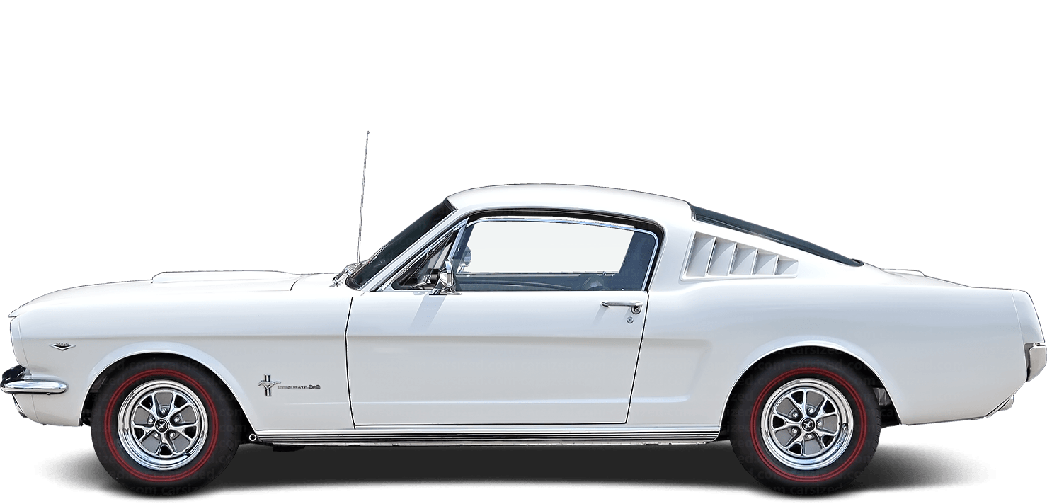 Ford Mustang Fastback 1966-1968 Side View