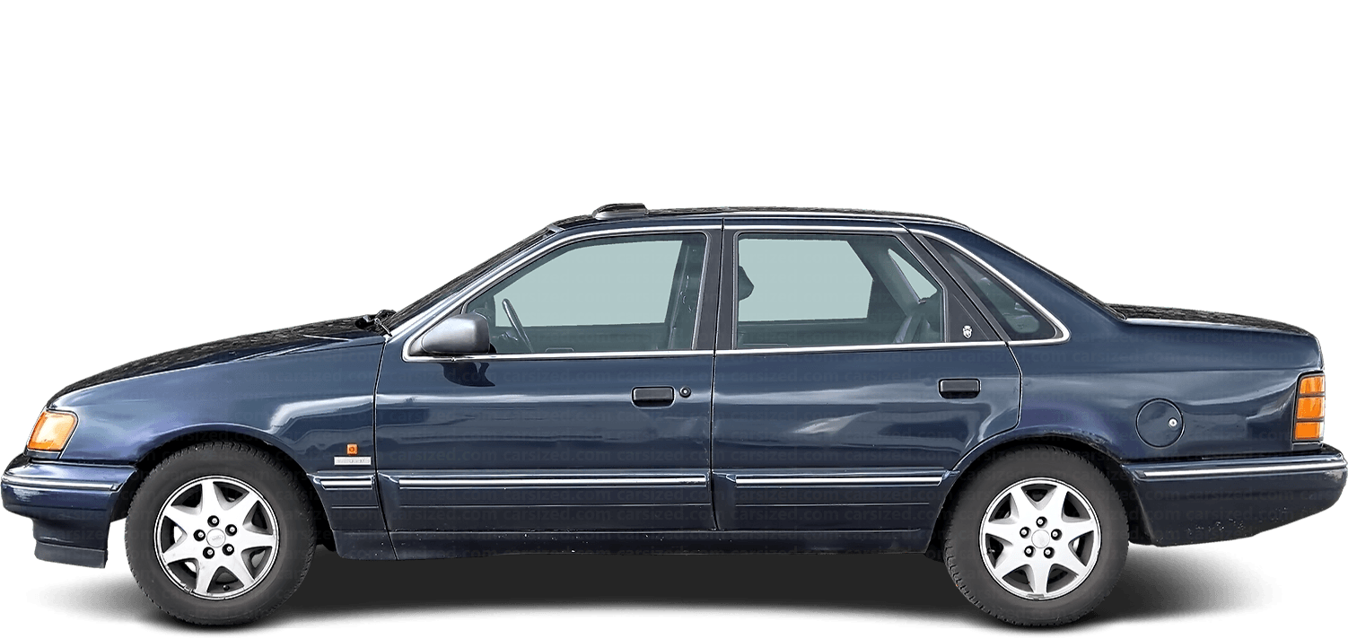 Ford Scorpio Sedan 1985-1994 Side View