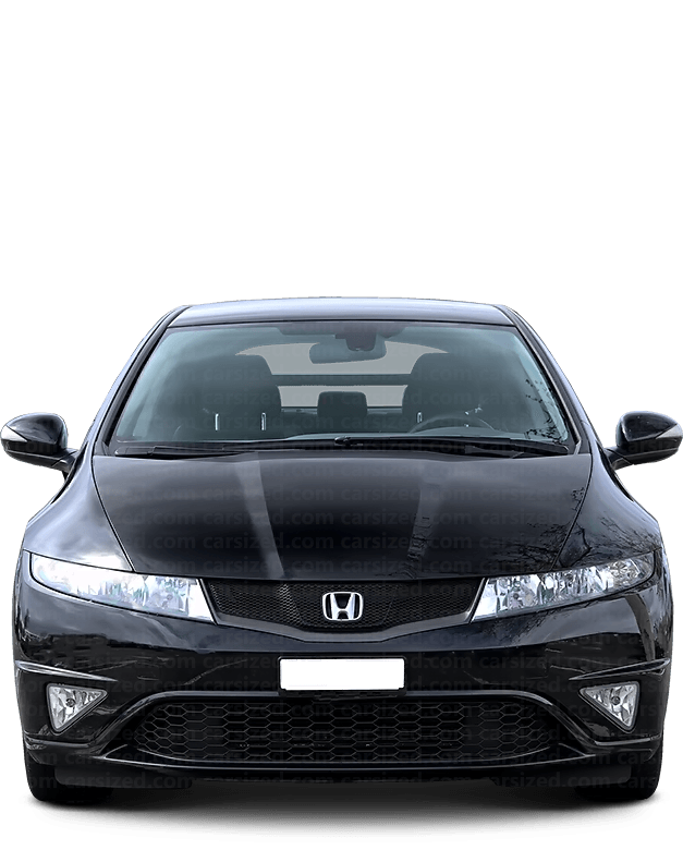 Honda Civic hatchaback 2005-2016 Front View