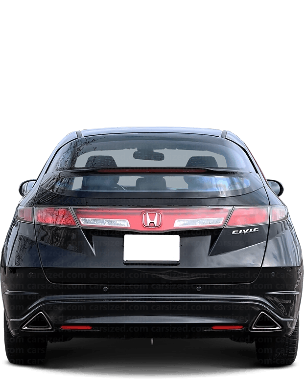 Honda Civic hatchaback 2005-2016 Rear View