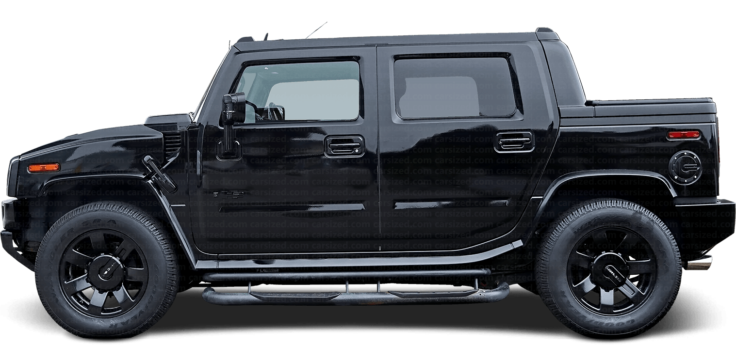 Hummer H2 pick-up 2002-2009 Side View