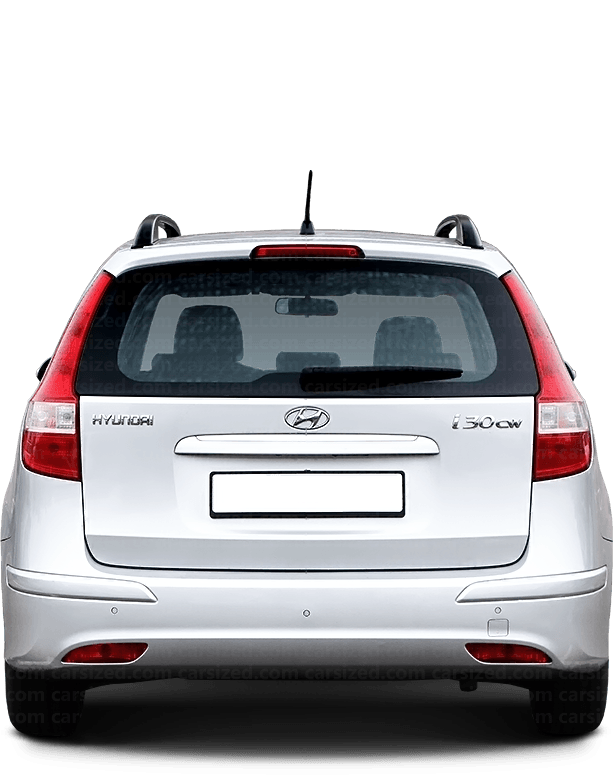 Hyundai i30 Estate 2007-2012 Rear View