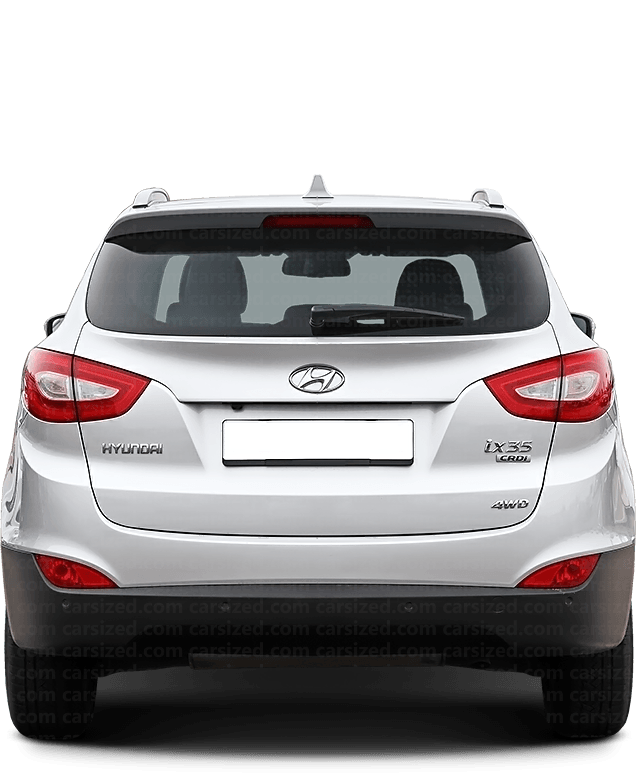 Hyundai Tucson SUV 2009-2015 Rear View
