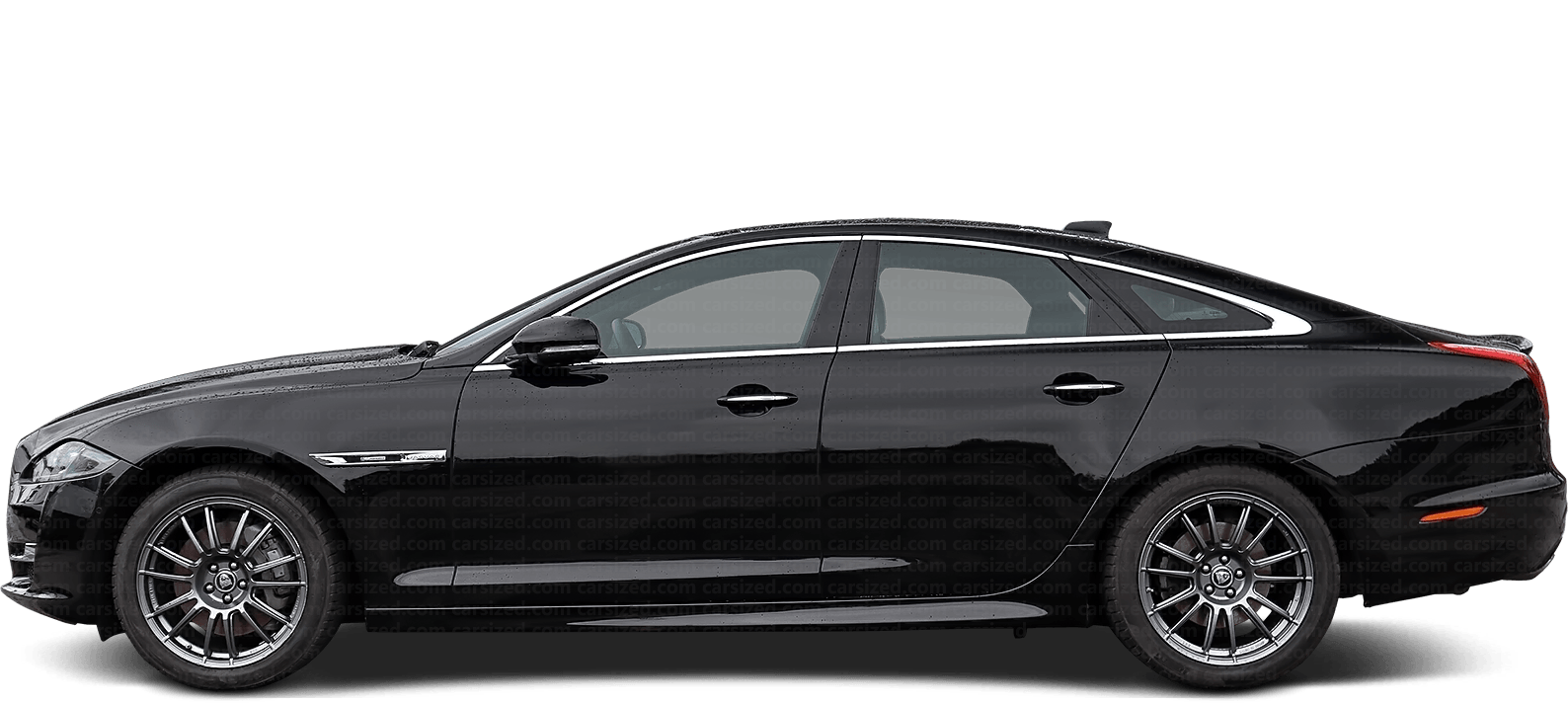 Jaguar XJ Sedan 2010-2019 Side View