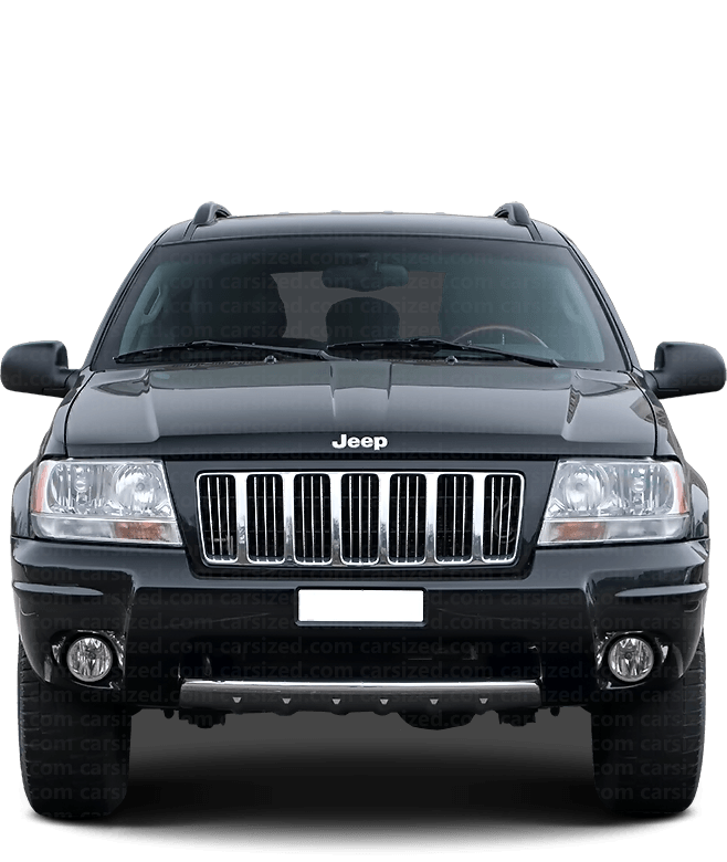 Jeep Grand Cherokee SUV 1998-2005 Front View