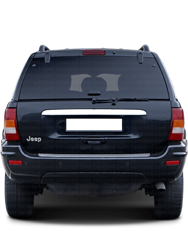 Jeep Grand Cherokee SUV 1998-2005 Rear View