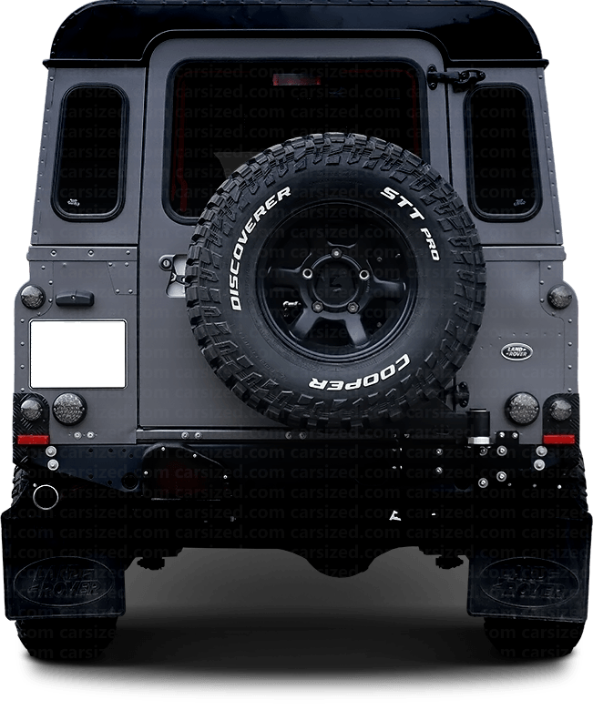 Land Rover Defender Offroader 2007-2016 Rear View