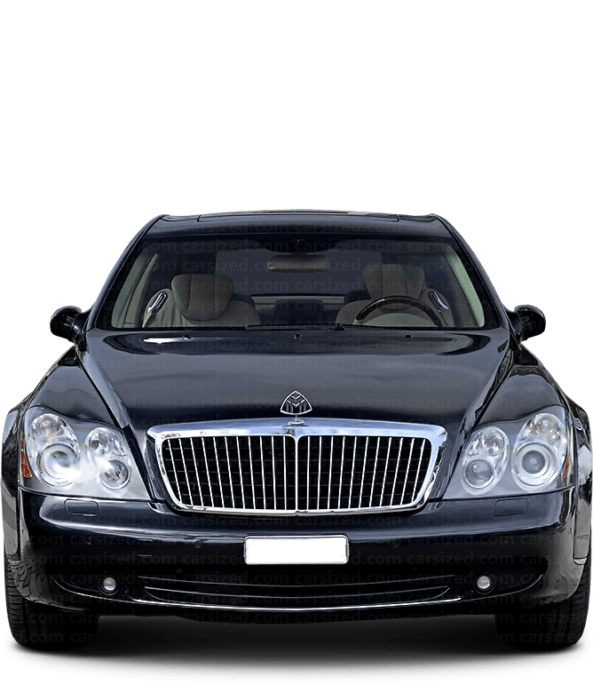 Maybach 57 Sedan 2002-2012 Front View