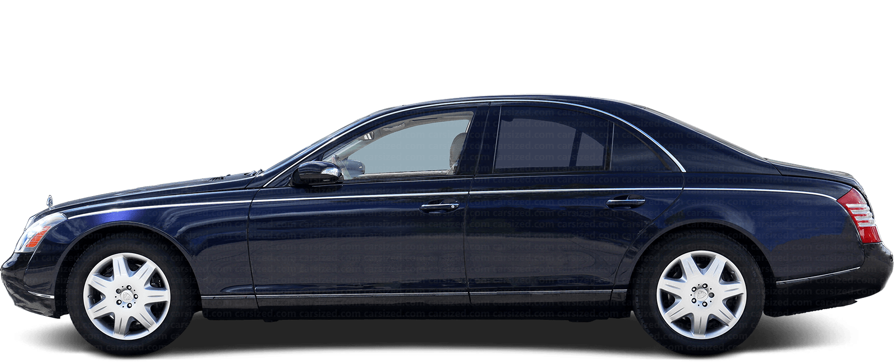 Maybach 57 Sedan 2002-2012 Side View