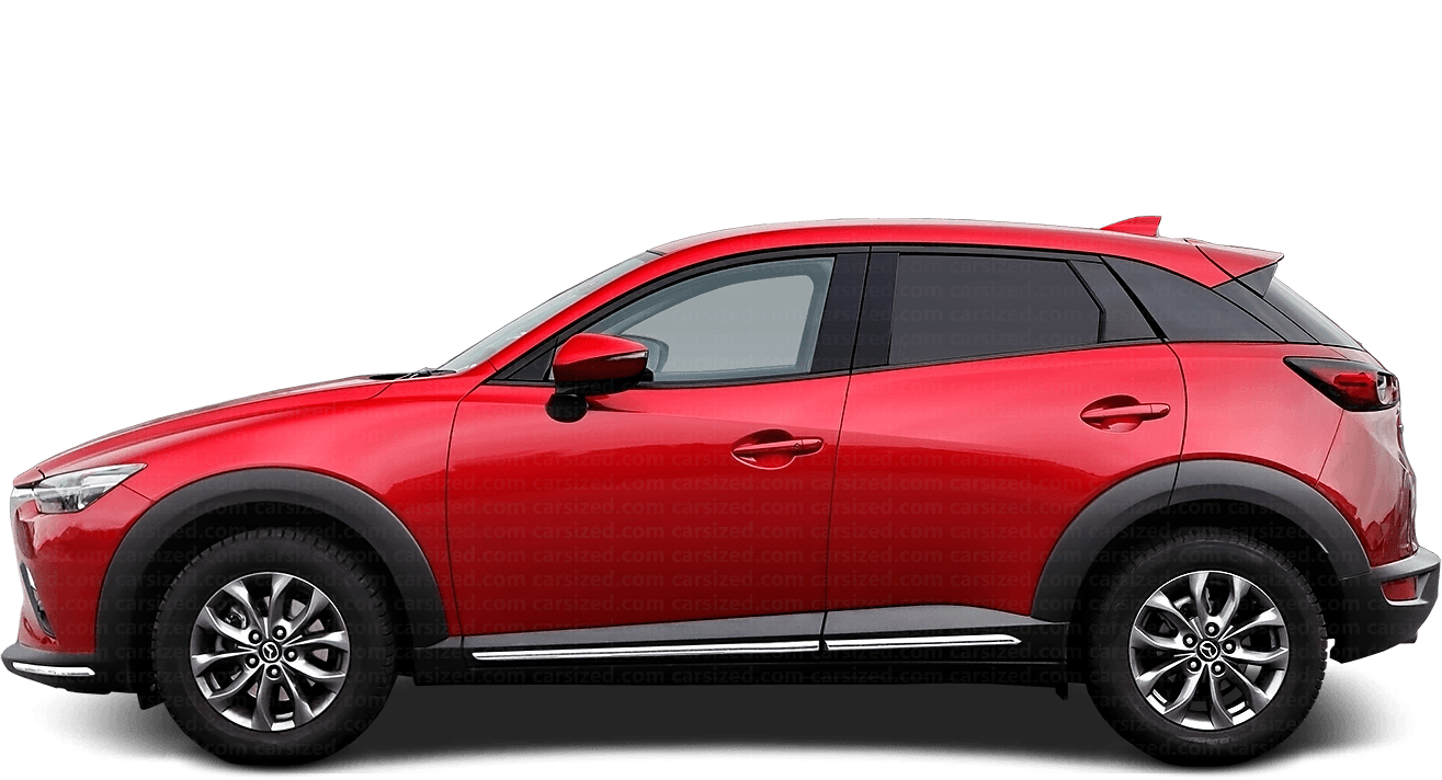 Mazda CX-3 SUV 2015-present Side View