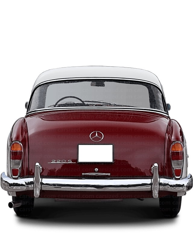 Mercedes-Benz 220 S coupé 1954-1959 Rear View