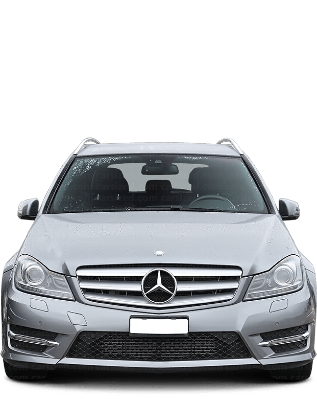 Mercedes-Benz C ステーションワゴン 2007-2014 正面図