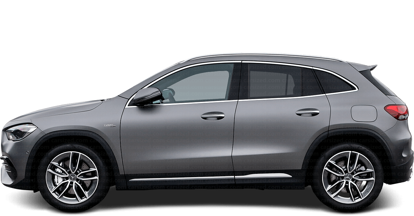 Mercedes-Benz GLA SUV 2020-present Side View