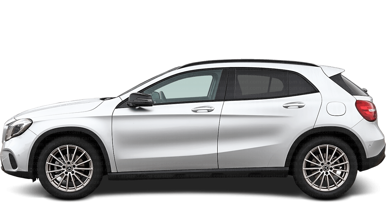 Mercedes-Benz GLA SUV 2014-2019 Side View