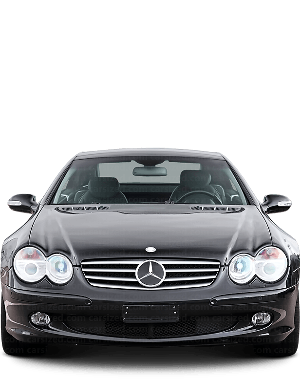 Mercedes-Benz SL Roadster 2001-2004 Front View