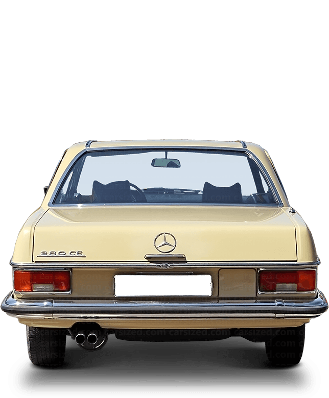 Mercedes-Benz W114 coupé 1968-1976 Rear View