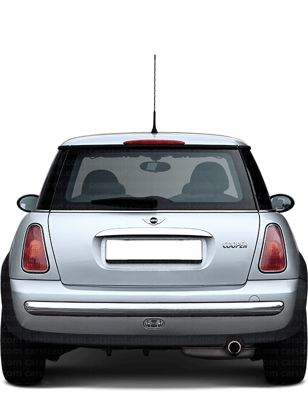 Mini Cooper Hatchback 2000-2004 Rear View