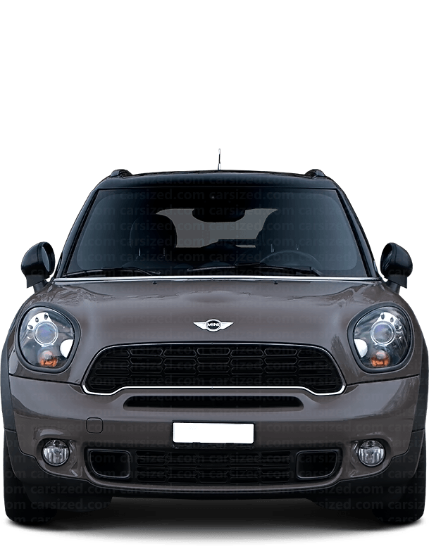 Mini Countryman SUV 2010-2016 Front View