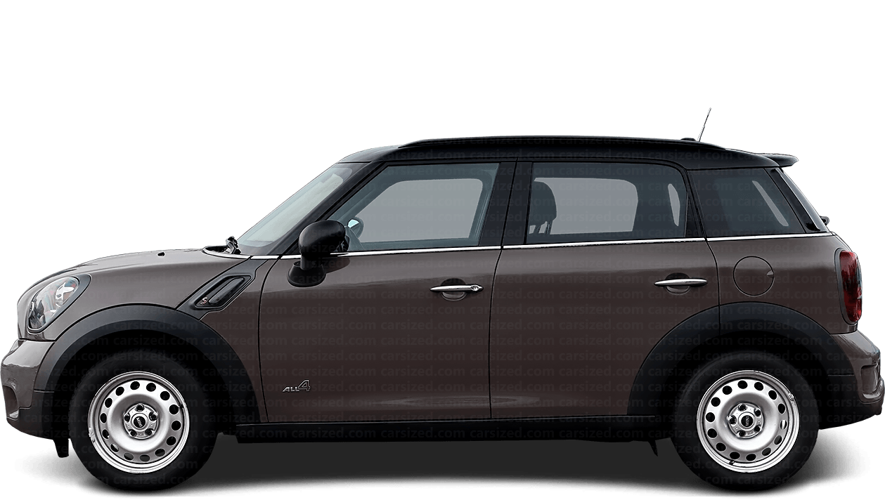 Mini Countryman SUV 2010-2016 Side View