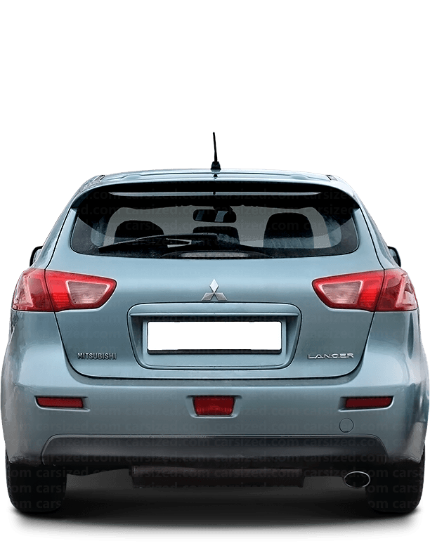 Mitsubishi Lancer Hatchback 2007-2017 Rear View