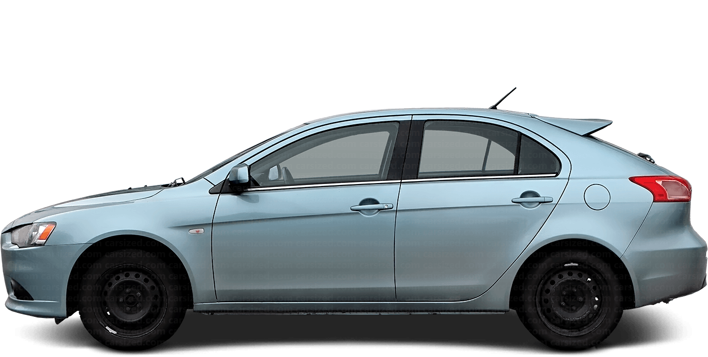 Mitsubishi Lancer Hatchback 2007-2017 Side View