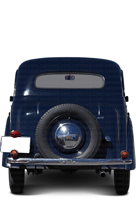 Moskvitch 400 Sedan 1946-1954 Rear View